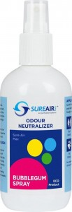 Neutralizator zapachu Sureair Spray guma balonowa - 250ml